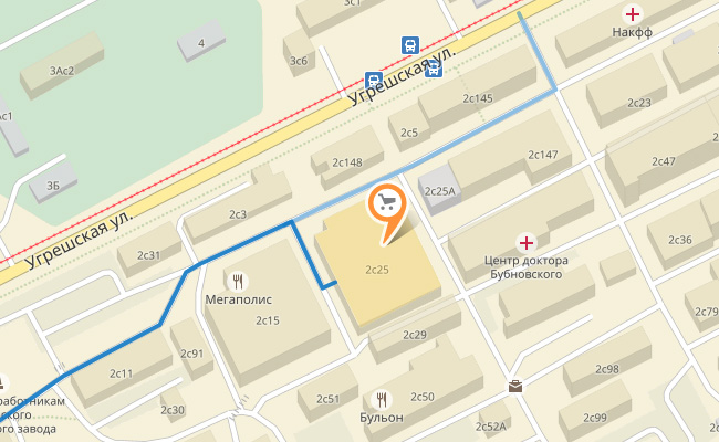 Textile-Solo карта подъезда к офис-шоуруму