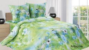 Комплект постельного белья поплин Акварель