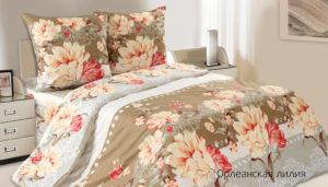 Комплект постельного белья поплин Орлеанская лилия Дуэт