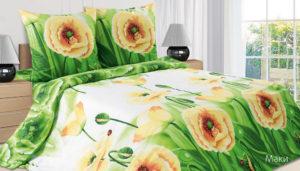 Комплект постельного белья поплин Маки 2-сп Макс