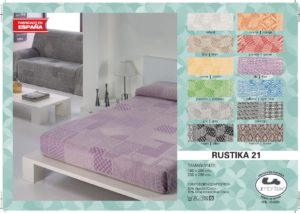 Покрывало на кровать/диван Rustica 21 Garnet (Испания)