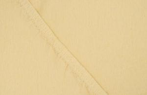 Простынь на резинке Джерси Желтый 90*200*30