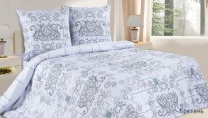 Комплект постельного белья поплин Бретань Евро