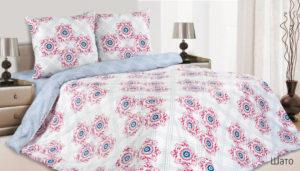 Комплект постельного белья поплин Шато 2,0 на резинке