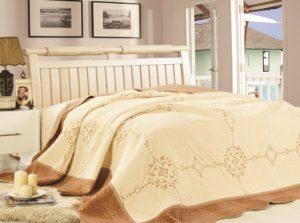 Покрывало  Lux Cotton  Визит с кантом вышивка