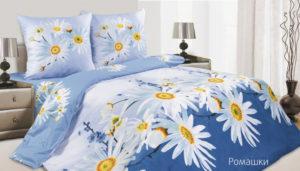 Комплект постельного белья поплин Ромашки