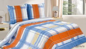 Комплект постельного белья поплин Дельта