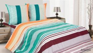 Комплект постельного белья поплин Атриум 2,0 на резинке