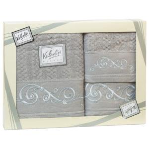 Махровые банные полотенца с вышивкой Valentini арт.10002 1117 (Португалия)