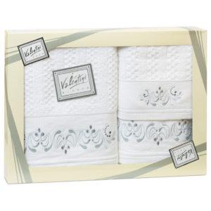 Махровые банные полотенца с вышивкой Valentini арт.10005 101 (Португалия)