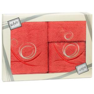 Махровые банные полотенца с вышивкой Valentini арт.80027 1088 (Португалия)
