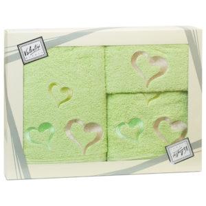 Махровые банные полотенца с вышивкой Valentini арт.80043 2115 (Португалия)