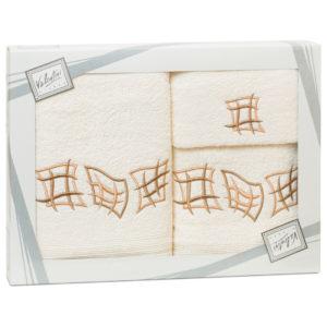 Махровые банные полотенца с вышивкой Valentini арт.80815 103 (Португалия)