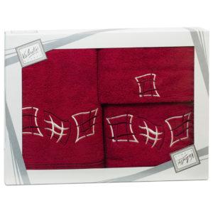 Махровые банные полотенца с вышивкой Valentini арт.80815 1148 (Португалия)