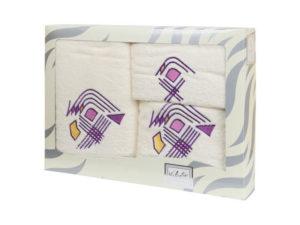 Махровые банные полотенца с вышивкой Valentini арт.81003 103 (Португалия)