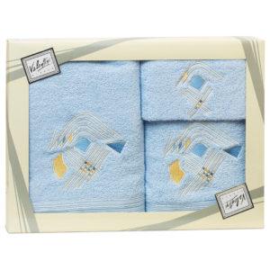 Махровые банные полотенца с вышивкой Valentini арт.81003 2107 (Португалия)