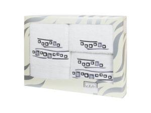 Махровые банные полотенца с вышивкой Valentini арт.81005 101 (Португалия)