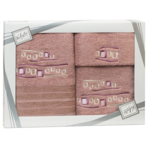 Махровые банные полотенца с вышивкой Valentini арт.81005 1132 (Португалия)