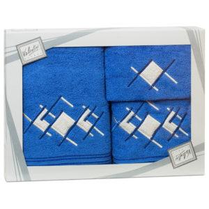 Махровые банные полотенца с вышивкой Valentini арт.81015 1119 (Португалия)