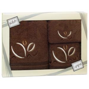 Махровые банные полотенца с вышивкой Valentini арт.81021 1183 (Португалия)
