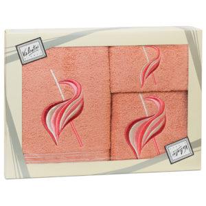 Махровые банные полотенца с вышивкой Valentini арт.81029 112 (Португалия)