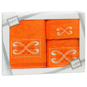 Махровые банные полотенца с вышивкой Valentini FANTASY 2 1123 (Португалия)