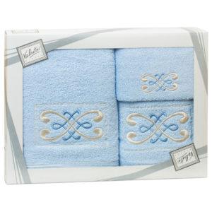 Махровые банные полотенца с вышивкой Valentini FANTASY 2 2107 (Португалия)