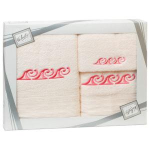 Махровые банные полотенца с вышивкой Valentini FANTASY 3 103 (Португалия)