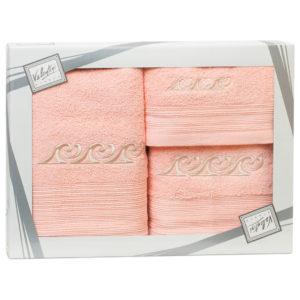 Махровые банные полотенца с вышивкой Valentini FANTASY 3 2105 (Португалия)