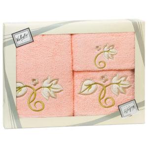 Махровые банные полотенца с вышивкой Valentini FLOWER 1 2105 (Португалия)