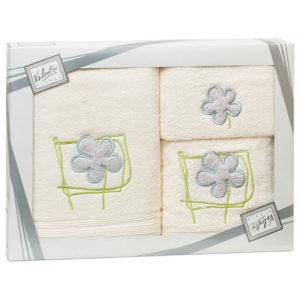 Махровые банные полотенца с вышивкой Valentini FLOWER 2 103 (Португалия)