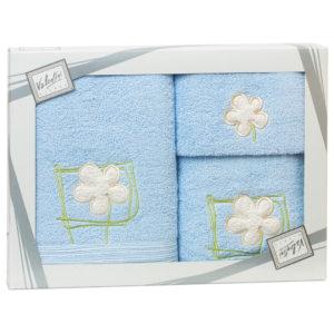 Махровые банные полотенца с вышивкой Valentini FLOWER 2 2107 (Португалия)