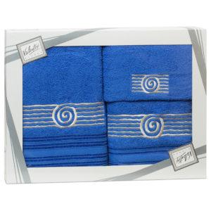 Махровые банные полотенца с вышивкой Valentini SEA 1 1119 (Португалия)