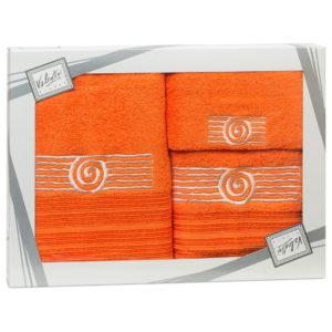 Махровые банные полотенца с вышивкой Valentini SEA 1 1123 (Португалия)