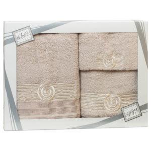 Махровые банные полотенца с вышивкой Valentini SEA 1 2143 (Португалия)