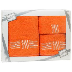 Махровые банные полотенца с вышивкой Valentini SEA 2 1123 (Португалия)