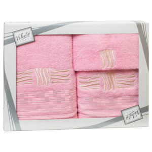 Махровые банные полотенца с вышивкой Valentini SEA 2 2111 (Португалия)