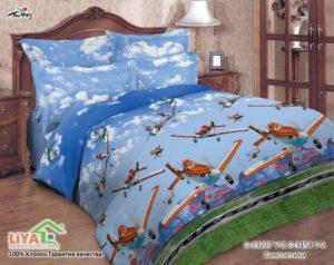 Детское постельное белье Самолетики 1.5- сп
