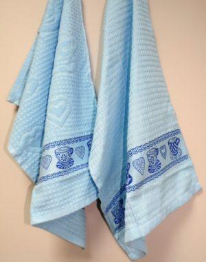 Набор полотенец для кухни Чашка голубой 2 шт