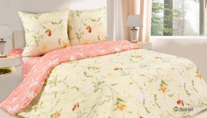 Комплект постельного белья поплин Фанни 2,0 на резинке