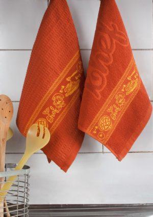 Набор полотенец для кухни Повар терракот 2 шт