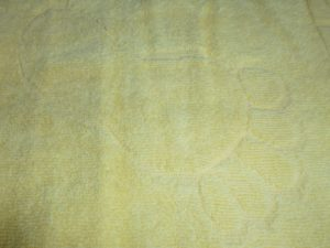 Полотенце для ног  Ножки  желтый