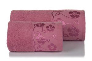 Махровое полотенце Флора чайная роза