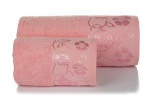 Махровое полотенце Флора розовый