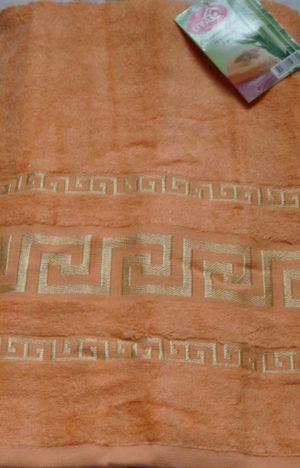 Махровое полотенце Бамбук оранжевый