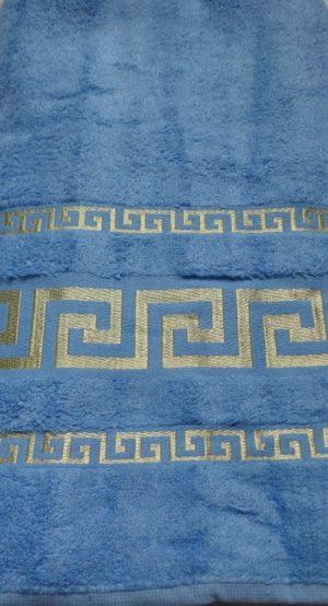 Махровое полотенце Бамбук голубой
