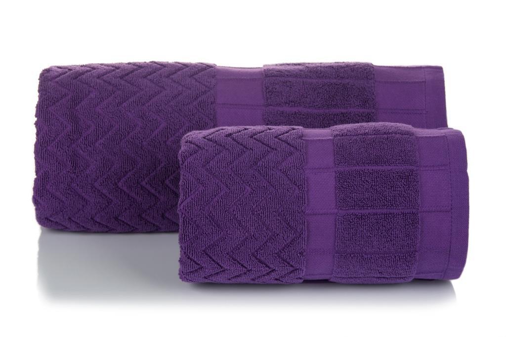 Махровое полотенце Зигзаг фиолетовый