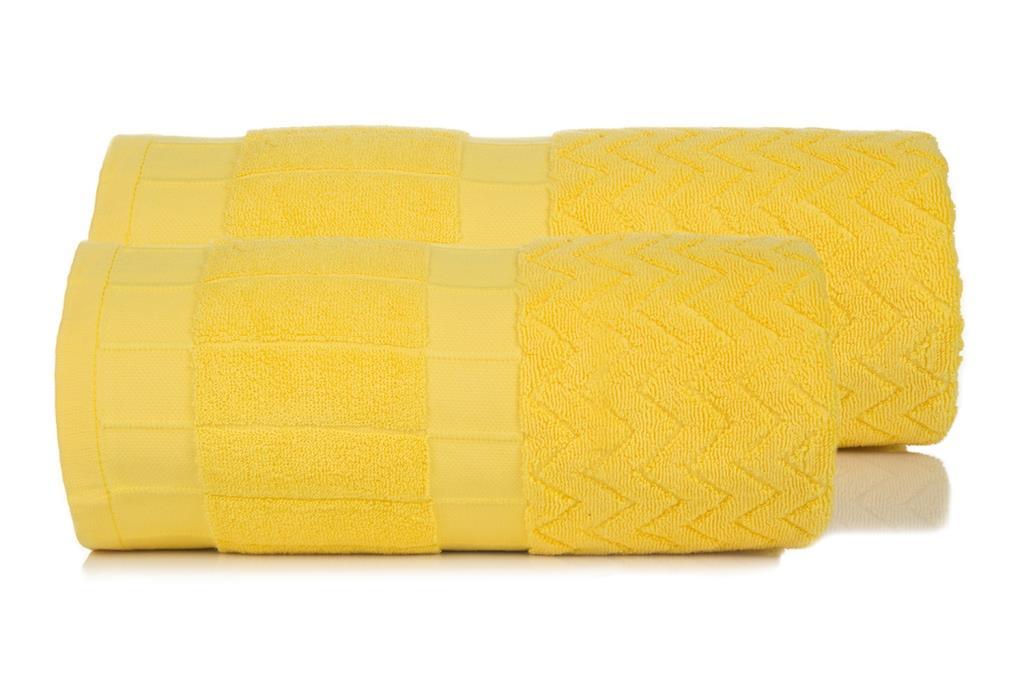 Махровое полотенце Зигзаг желтый