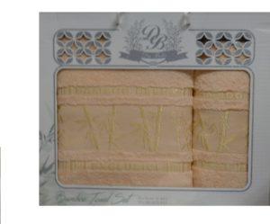 Набор полотенец Бамбук  Персик 2 шт