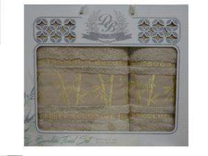 Набор полотенец Бамбук  Бежевый 2 шт